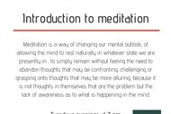 Image for event: Introduction to Meditation