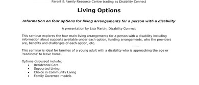 Living Options - Info On 4 Options for Living Arrangements