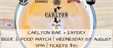 Carlton Bar + Eatery Beer & Food Match