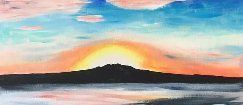 Paintvine - Rangitoto Sunrise