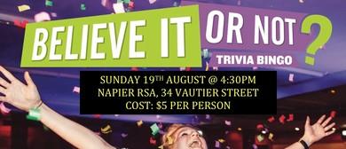 Trivia Bingo Fundraiser - Social Cruizers