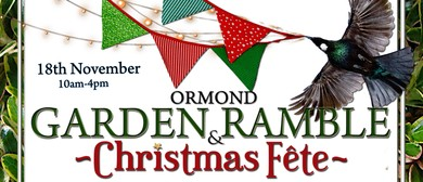 Ormond Garden Ramble & Christmas Fete