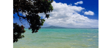 Wine and Paint Party - Rangitoto From Kohimarama Painting