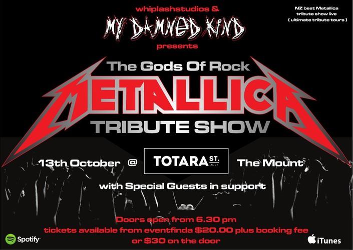 76847f0af589 Gods of Rock Metallica tribute show - Mt Maunganui - Eventfinda