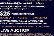NHB Junior Jumping Fundraising Quiz Night & Auction