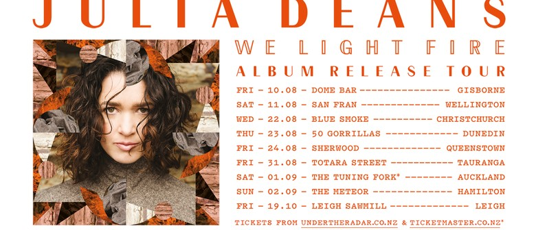 Julia Deans - We Light Fire Album Release Tour