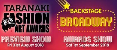 Taranaki Fashion Art Awards 2018 - Backstage Broadway