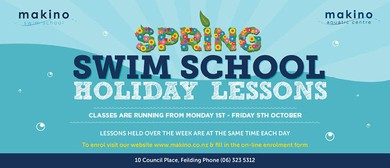 Spring Swim School Holiday Lessons
