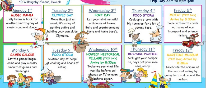 Skids Howick October Holiday Programme