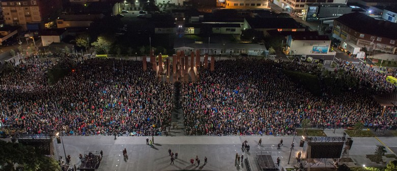 Sunset Ceremony Marking the End of First World War Centenary