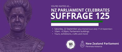 Celebrate Suffrage 125 at NZ Parliament
