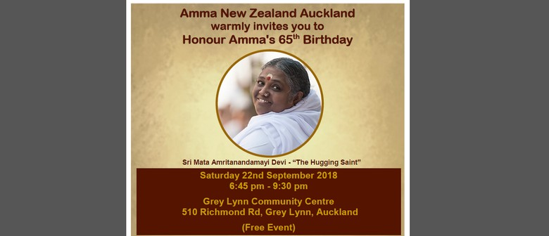 Honoring Amma's 65th Birthday