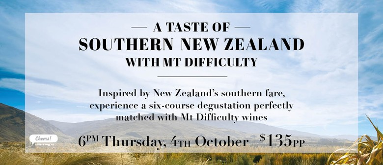 A Taste of Southern New Zealand with Mt Difficulty wines