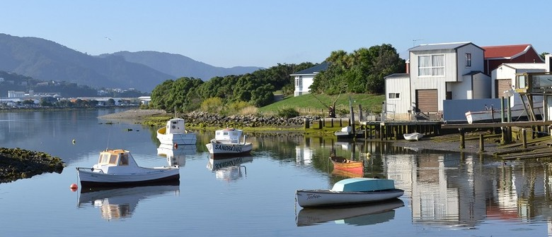 Wine and Watercolours - Boatsheds On the Hutt River Mouth
