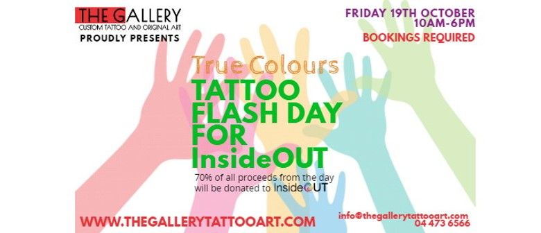 True Colours - Tattoo Flash Day for InsideOut