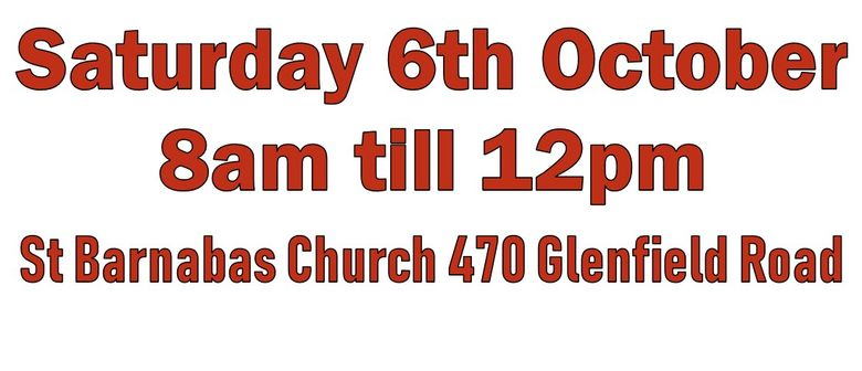 St Barnabas Glenfield Annual Garage Sale
