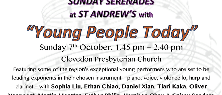 Sunday Serenades - Young People Today