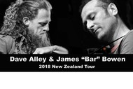 Image for event: Dave Alley (NZ) and James Bar Bowen (UK) plays Kumeu Live