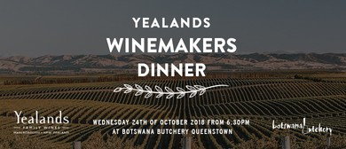 Yealands Winemakers Dinner