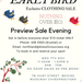 Early Bird Fundraiser Clothing Sale