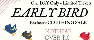Early Bird Fundraiser Clothing Sale
