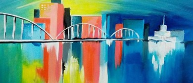 Paint and Wine Night - The Cityscape - Paintvine