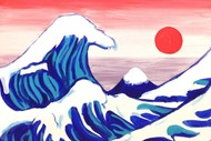 Image for event: Paint and Wine Night - The Great Wave - Paintvine