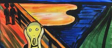 Paint and Wine Night - The Scream - Paintvine