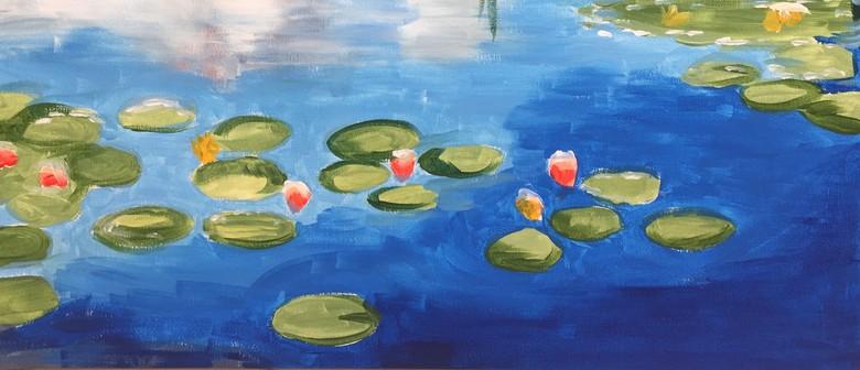 Paint and Wine Night - Monet Waterlilies - Paintvine