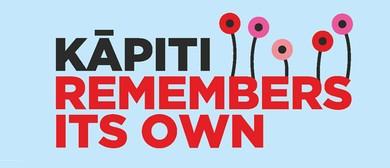 Kāpiti remembers its own - Armistice Day 2018 concert