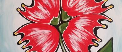 Paint and Wine Night - Pohutukawa Flower - Paintvine