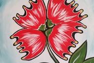 Image for event: Paint and Wine Night - Pohutukawa Flower - Paintvine