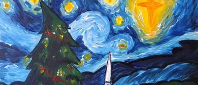 Paint and Wine Night - A Starry Christmas Night - Paintvine