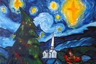 Image for event: Paint and Wine Night - A Starry Christmas Night - Paintvine