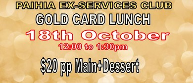 Gold Card Lunch