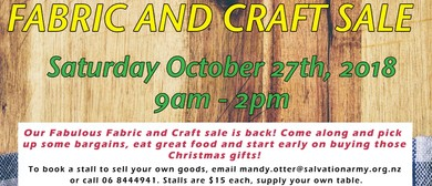 Fabric and Craft Sale