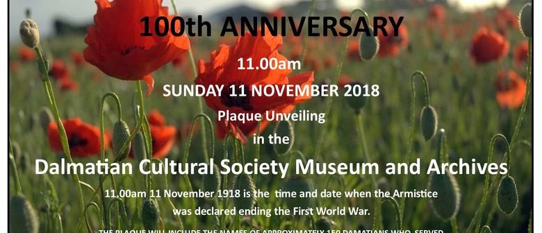 Armistice Day at the Dalmatian Cultural Society