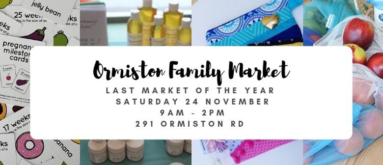 Ormiston Family Market - End of Year Xmas Market
