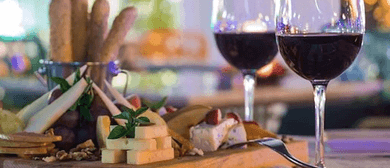 Rustic Wine and Cheese Sampling Affair