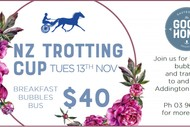 Image for event: NZ Trotting Cup Breakfast Bubbles & Bus