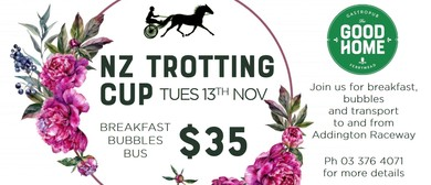 NZ Trotting Cup Breakfast Bubbles & Bus: CANCELLED