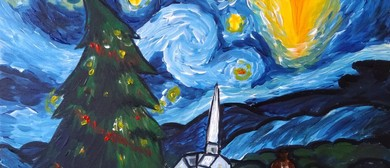 Paint and Wine Night - A Starry Christmas Night - Paintvine
