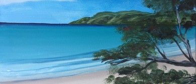 Wine and Paint Party - Waiheke Island Beachscape Painting