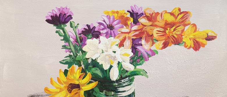 Acrylic Painting workshop - Flowers - Impressionism