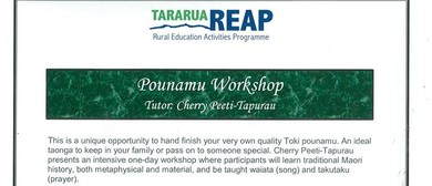 Pounamu Workshop