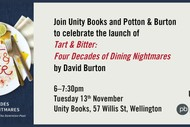Image for event: Book Launch - Tart & Bitter by David Burton