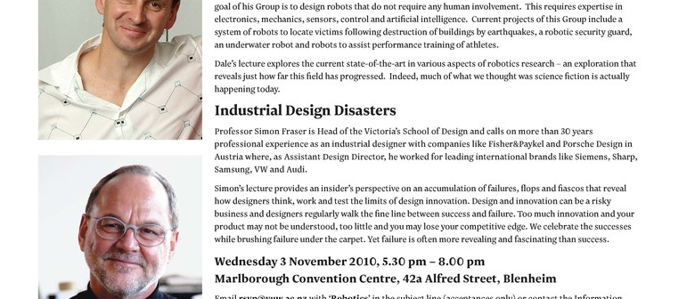 Robotics & Industrial Design Disasters: CANCELLED
