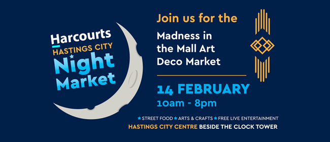 Harcourts Hastings City Madness in the Mall Art Deco Market