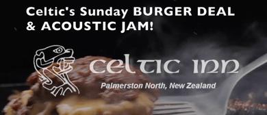 Celtic's Sunday Burger Jam – Open Mic