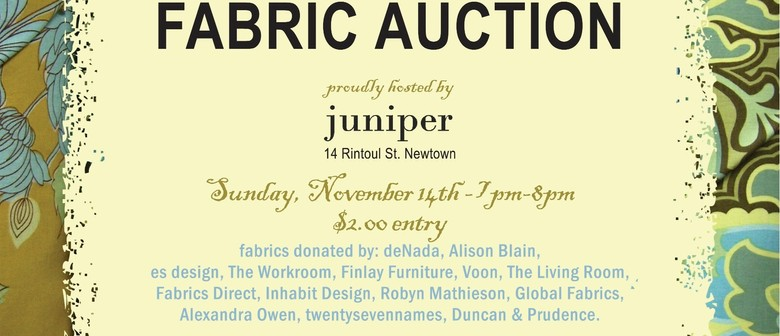 Plunket Newtown/Mount Cook Fabric Auction